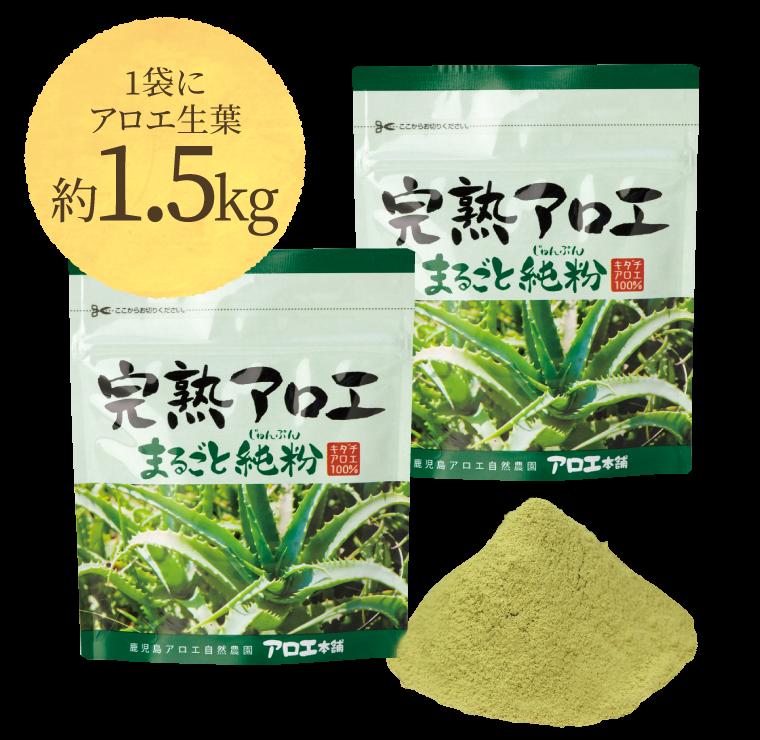 1袋にアロエ生葉アロエ生葉約1.5kg